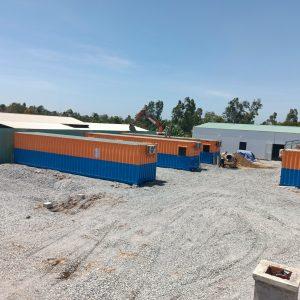 Container đặt tại coomng trình Tiền Giang